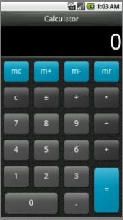 Fully functional calculator with memory features