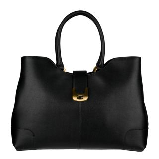 Fendi Chameleon Dip Top Large Leather Satchel