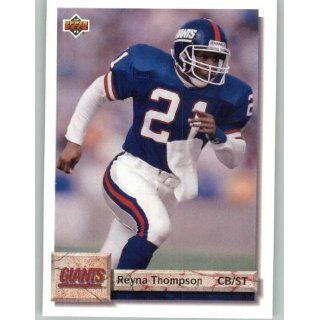1992 Upper Deck #329 Reyna Thompson   New York Giants (Football Cards)