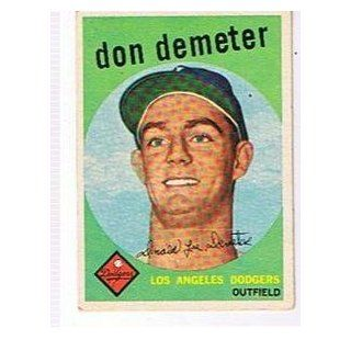 1959 TOPPS # 324 DON DEMETER ,DODGERS !!: Collectibles