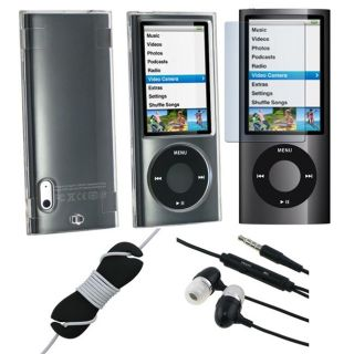 piece Case/ Stereo Headset and Protector for Apple iPod Nano 5th