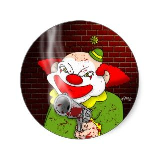 Evil Clown Stickers, Evil Clown Sticker Designs