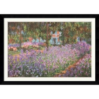 Claude Monet The Artists Garden at Giverny, 1900 Framed Art Print