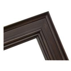 Rectangular Framed Burnt Sepia Brown Wall Mirror