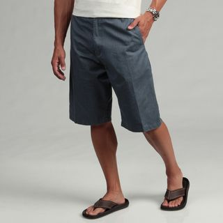 Burnside Mens Blue Striped Chino Shorts