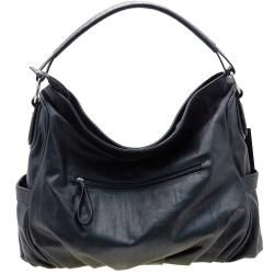 Dasein Black Faux Leather Hobo Bag