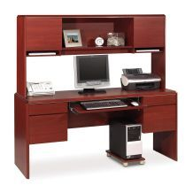 Bestar Willow Creek II Credenza and Hutch Kit