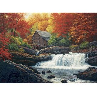Glade Creek Grist Mill 500 piece Jigsaw Puzzle