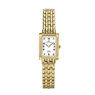 Certus Paris Womens gold tone Brass Rectangular Watch