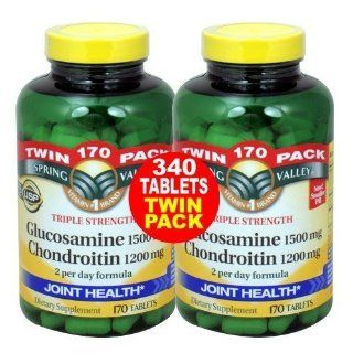 Glucosamine Chondroitin, Triple Strength, 340 Caps Everything Else