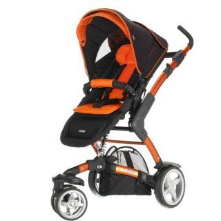 ABC Design Kombi Kinderwagen 3 TEC inkl. Tragewanne orange black