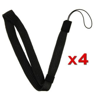 Black Wrist Strap for Nintendo Wii Remote Control (Pack of 4