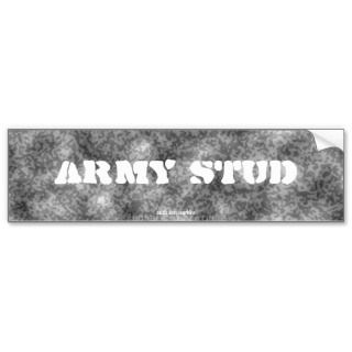 Black & White Camouflage Army Stud Bumper Sticker