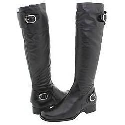 Christin Michaels Vanes Black Leather Boots
