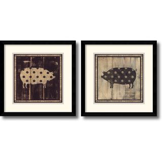 Lisa Hilliker Polka Pigs Framed Art Print Set