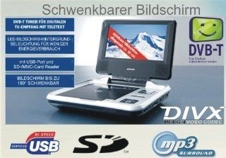 GRAN PRIX PORTABLE DVD PLAYER mit DVB T USB, SD Karte