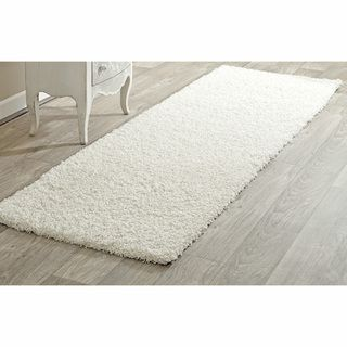 Alexa My Soft and Plush White Shag Runner (28 x 8)
