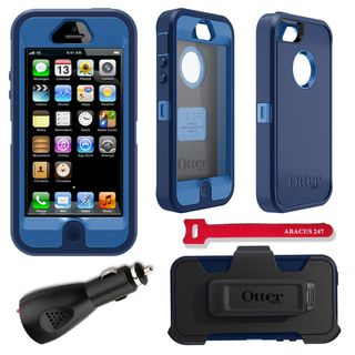 OtterBox Defender iPhone 5 Protector Case / 2000 mAh Charger / Velcro