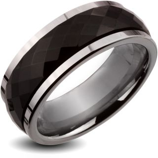 Carbide Black Multi faceted Spinner Ring (8 mm)