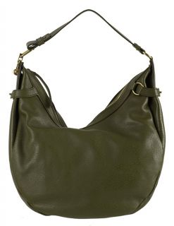 Ferragamo Green Leather Hobo Bag
