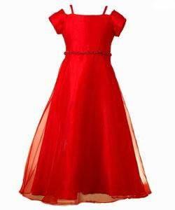 Bonnie Jean Girls Red Special Occasion Dress
