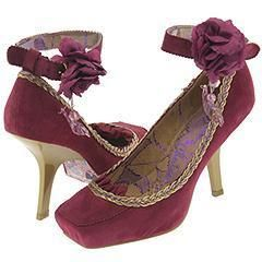 Irregular Choice Candyfloss Purple Suede/ Gold Bra(Size 42 (US 11) M