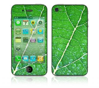 Green Leaf Texture Apple iPhone 4 Vinyl Skin