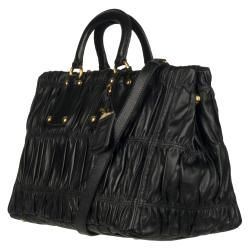Prada Black Nappa Leather Tote Bag