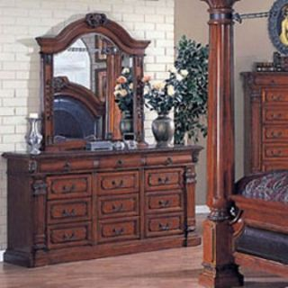 Roman Empire 12 Drawer Dresser   Cherry   Dressers