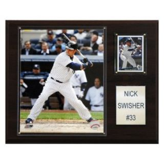 MLB 12 x 15 in. Nick Swisher New York Yankees Player Plaque at