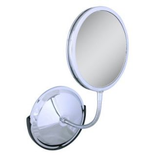 Zadro 10X/5X/1X Chrome Gooseneck Vanity/Wall Mirror   Makeup & Shower