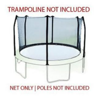 15 ft. Trampoline Net attaches with Straps for 6 Straight Curved Poles