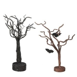 Midwest CBK Halloween Whimsies Glittered Tree   Set of 2   Novelty