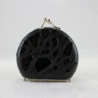 Round Locket Jewelry Travel Case   Black   Womens Jewelry Boxes at