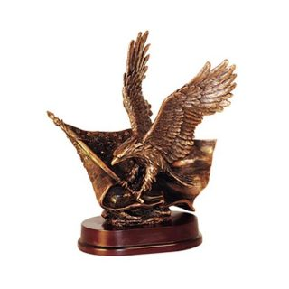 Eagle with Flying Flag Bronze Statue