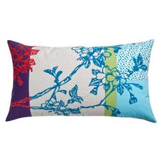 Koko Company 27 in. Wallpaper Oblong Pillow   Decorative Pillows at