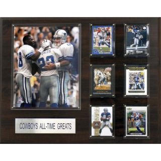Dallas Cowboys All time Greats 16x20 Cherry Wood Plaque