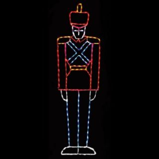 87 in. Outdoor LED Large Toy Soldier Display   200 Bulbs   Christmas