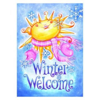 Toland Winter Welcome 28 x 40 in. Outdoor House Flag   Outdoor Flags