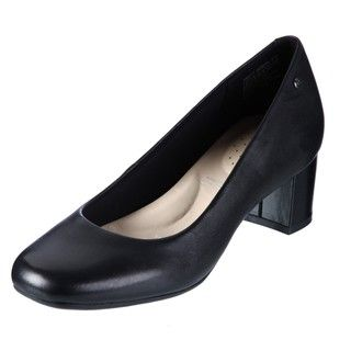 Rockport Womens Mary Black Leather Pumps