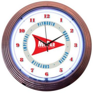 Neonetics Mopar Arrow Neon Clock   Clocks