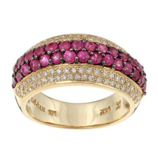 Encore by Le Vian 14k Gold Ruby and 1/3ct TDW Diamond Ring
