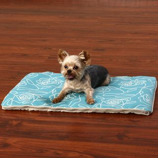 Crypton Bed of Roses Blue Travel Dog Bed (17 x 25)