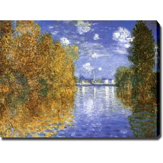 Claude Monet Autumn Effect at Argenteuil Gallery wrapped Canvas Art