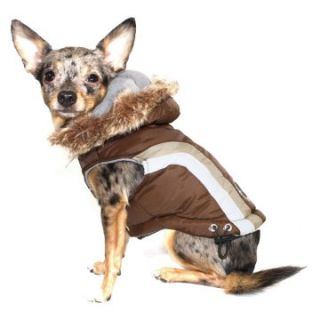 Hip Doggie Swiss Alpine Ski Vest   Brown   Dog Coats and Jackets at