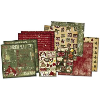 Holiday Traditions Scrapbook Page Kit with Eight 12x12 Pages and Two