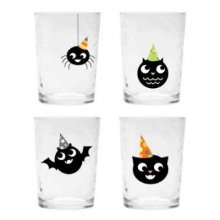 One Hundred 80 Degrees Halloween Drink Glass   Set of 4