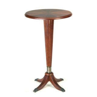 Round Birch End Table