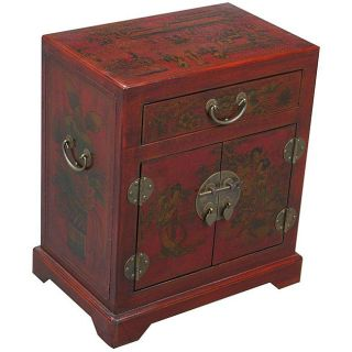 Hand painted Oriental Accent/ End Table (China)