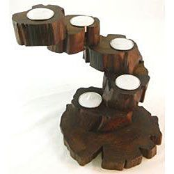 Reclaimed Teak Wood Five arm Candle Holder (Thailand)